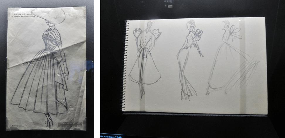 Croquis fait par Christian Dior
