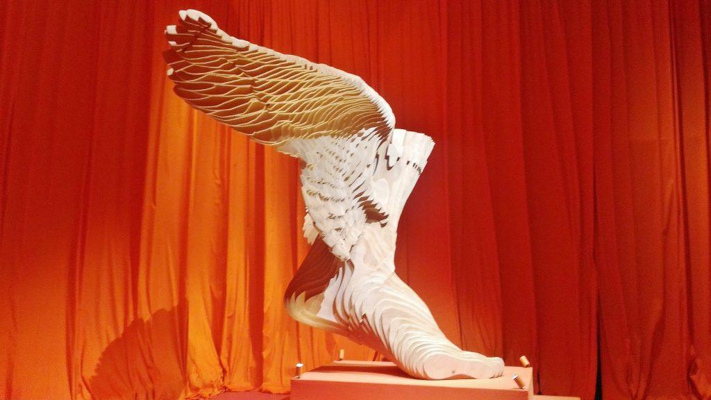Le pied ailé, symbole de la Maison Hermès en référence au dieu éponyme.