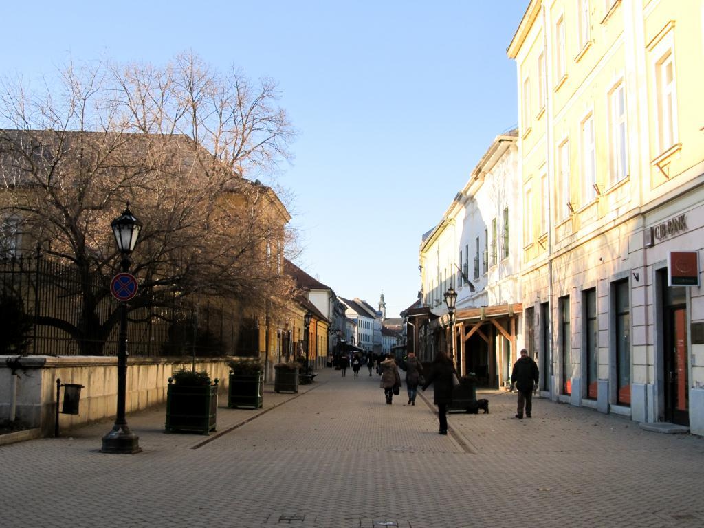 Rue Széchenyi : Éloignons de Budapest pour aller découvrir Eger dans le nord est de la Hongrie. Visites, monuments, recommandations et restaurants.