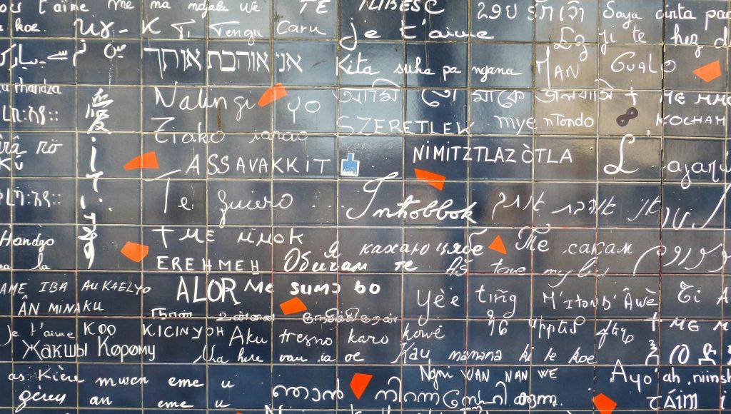 Montmartre mur des Je t'aime