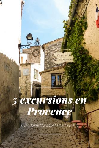 5 excursions en Provence Pinterest