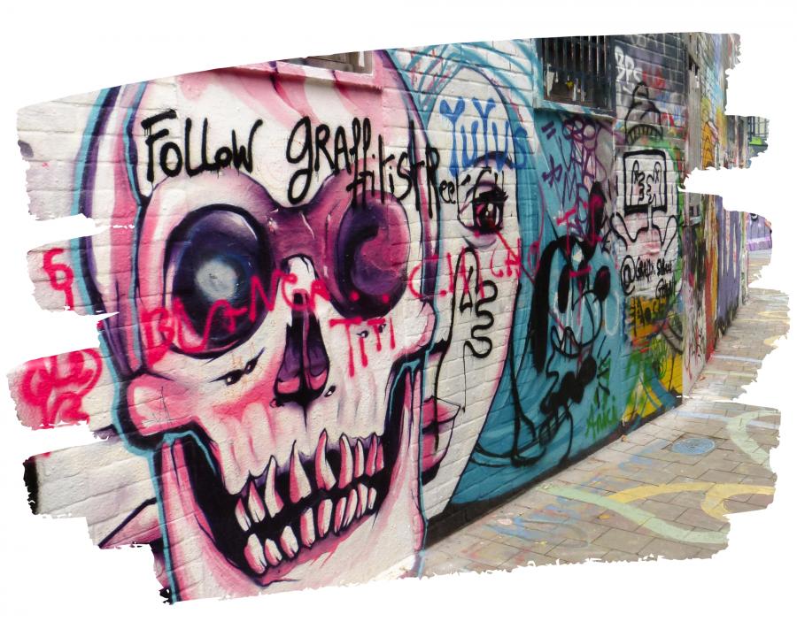Gand ruelle des graffitis